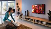Установка телевизора на стену,  а также его настройка