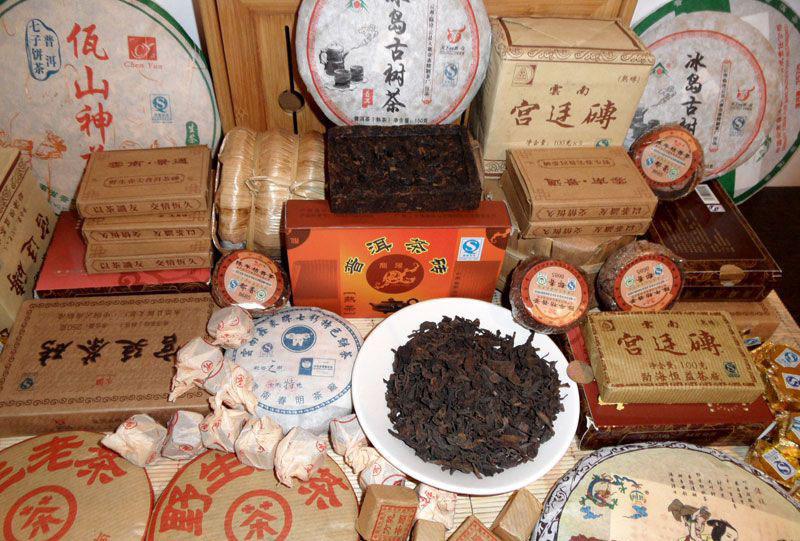 Китайский чай пуэр виды
