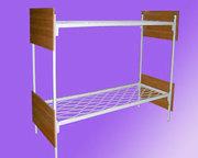 Металлические кровати с ДСП спинками для больниц,  кровати для гостиниц