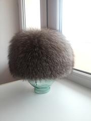 шапка женская из настоящей чернобурки