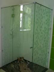 Душевая кабина,  стеклянная шторка в ванную,  перегородка в душ,  Астана