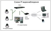 Монтаж IP - видеонаблюдения