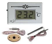 Термометр электронный для сауны ТЭС-2Pt с датчиком в декоративном корпус