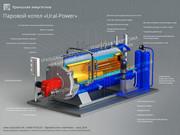 Паровой котел 2000 кг/ч газ/дизель в наличии.
