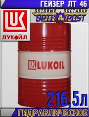 Гидравлическое масло ЛУКОЙЛ ГЕЙЗЕР ЛТ 46,  минеральное,  216, 5 л Арт.:L-